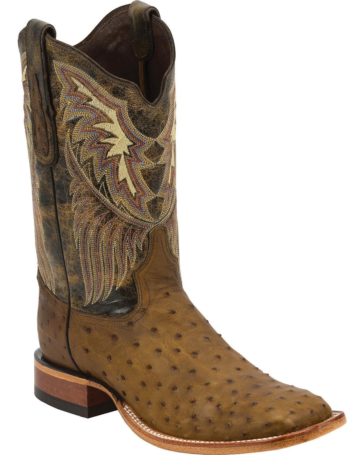 Tony Lama Men S Label Full Quill Ostrich Cowboy Boot