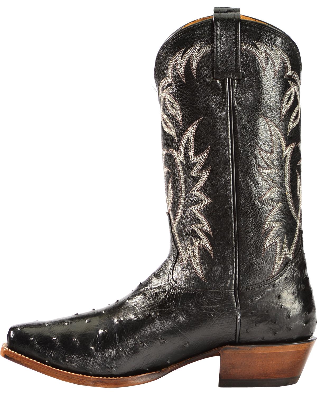 Tony Lama Men S Sheplers Full Quill Ostrich Cowboy Boot