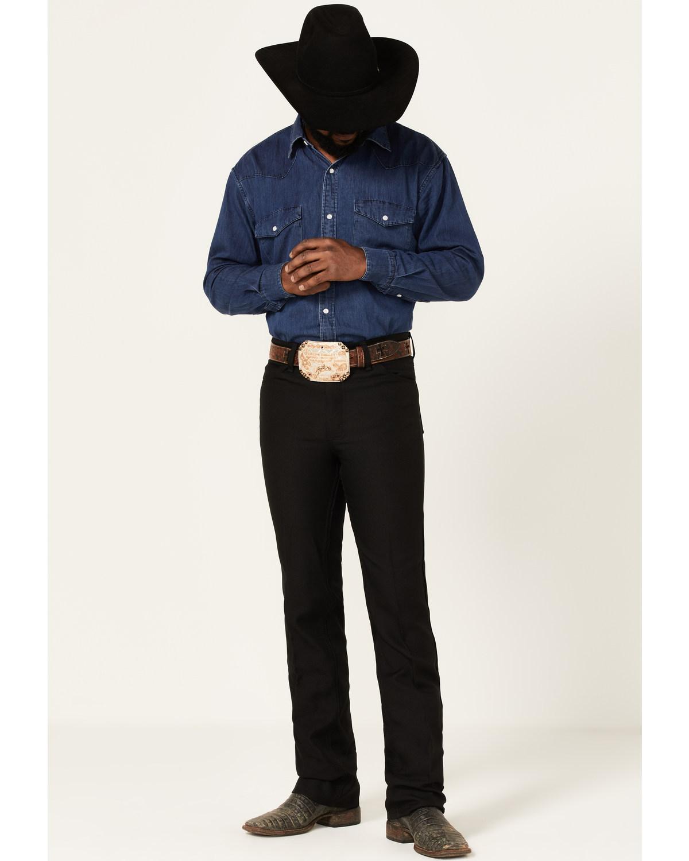Wrangler Men S Jeans Wrancher Solid Regular Fit Stretch
