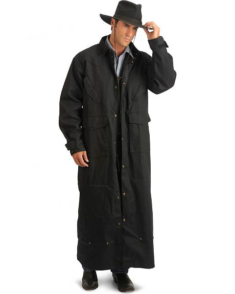 Scully RangeWear Mens Natural 100% Cotton Long Overcoat ...
