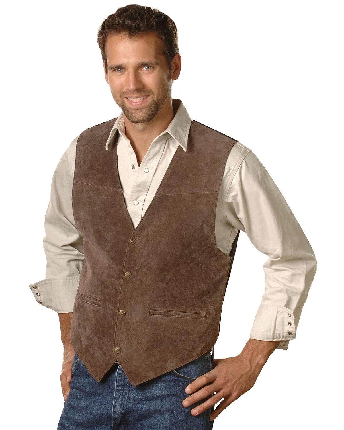 The Men's Zippered Touring Vest is the perfect vest for motorcycle riders to display patches. The back panel on a size 40 is 17
