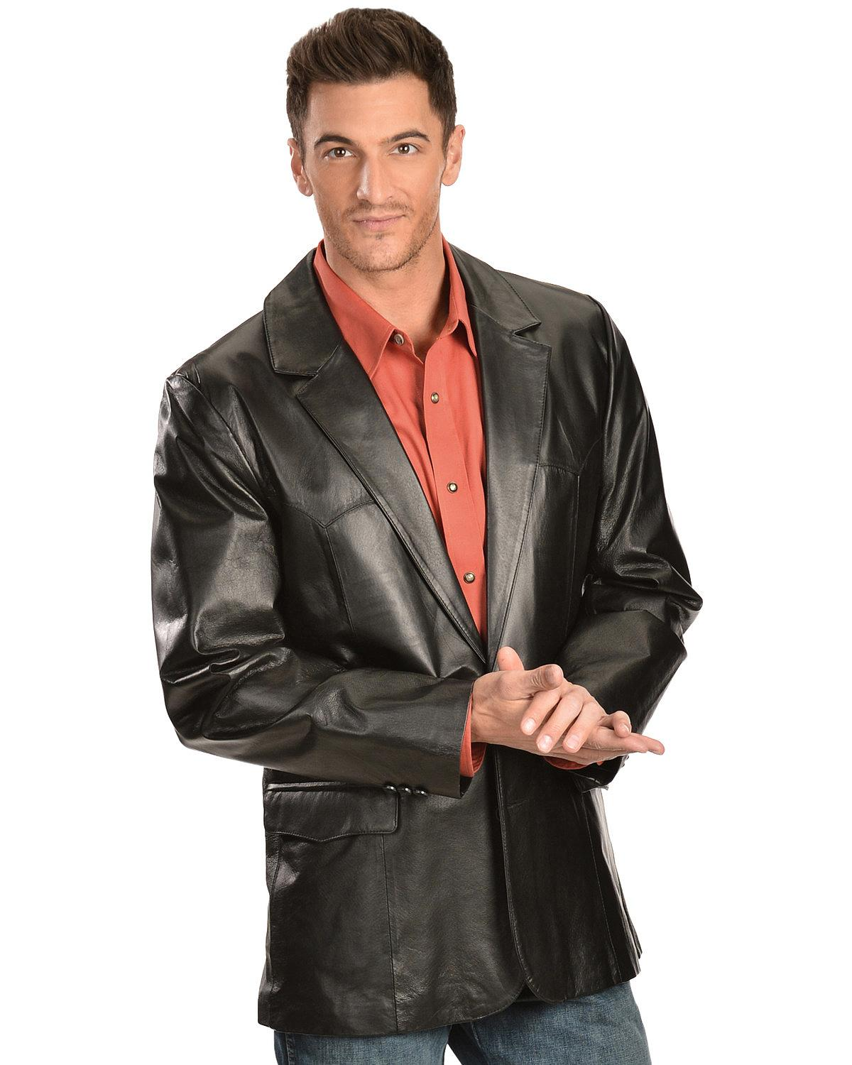 Scully Leather Mens Western Sportcoat Blazer Jacket Button Front ...