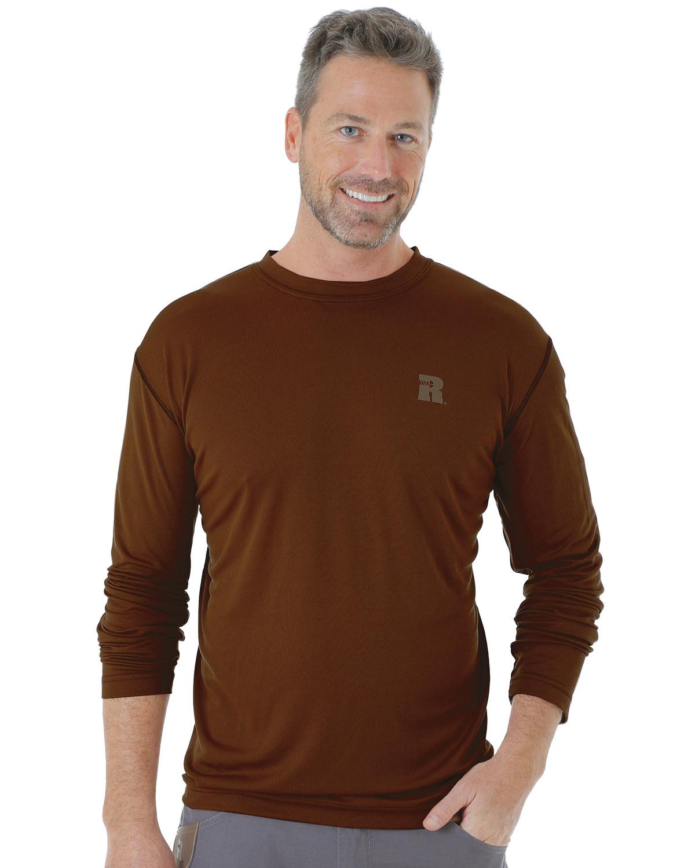 Wrangler Men's Riggs Crew Performance Long Sleeve T-Shirt -
