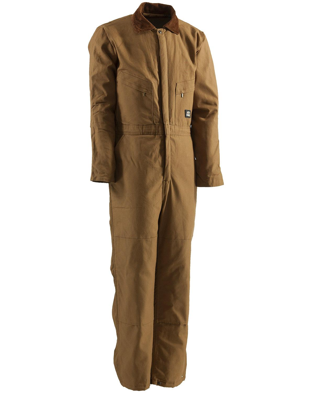 Berne Men S Duck Deluxe Insulated Coveralls Short 3xl And