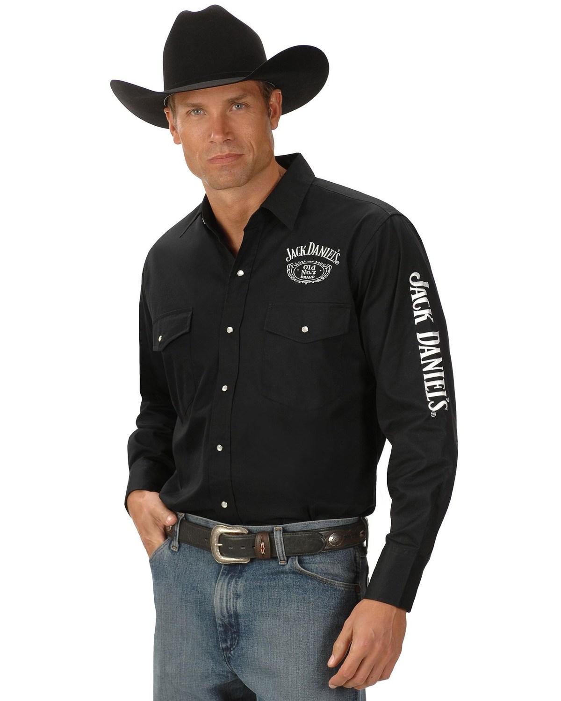 48f204abb La foto se está cargando Jack-Daniel-039-s-LOGO-Rodeo-Camisa-Vaquera-