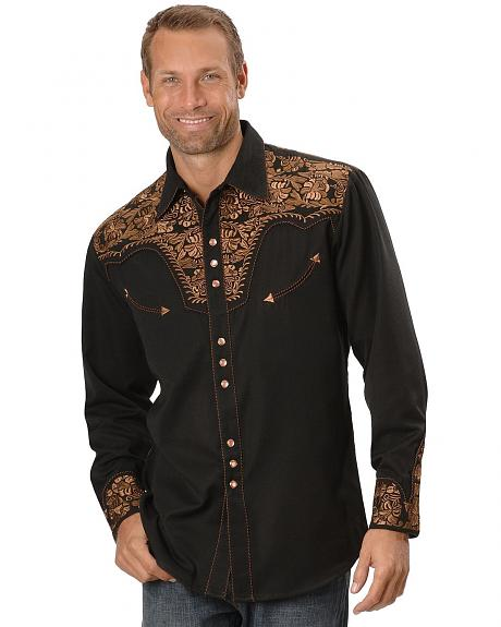 Scully Floral Embroidered Western Shirt Sheplers