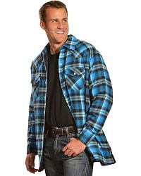 Ely Cattleman Quilted Flannel Jacket Shirts Reg Sheplers