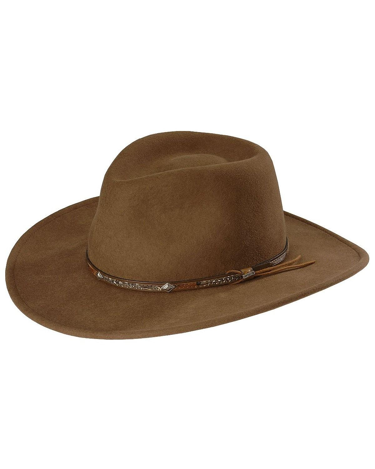 Stetson Men's Mountain Sky Crushable Wool Hat - SWMTSK ...