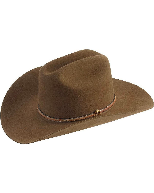 48581f3e573bd Stetson Powder River 4X Buffalo Felt Cowboy Hat - SBPWRV-754023 Mink ...