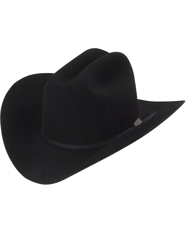 Larry Mahan 5X Ridgetop Fur Felt Cowboy Hat Black 7 1 2 843604034404 ... 8b89db6bd16