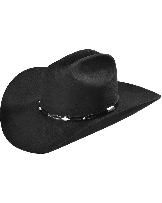 6ecb36f79d1ec Stetson 6X Fur Felt Brimstone Cowboy Hat Black 7 1 2 717220819502