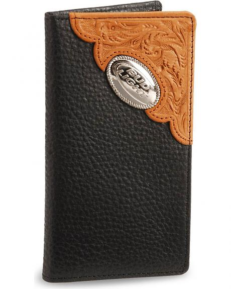 Bud Light Leather Checkbook Wallet Sheplers
