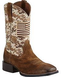 Men's Ariat Patriotic Cowboy Boots