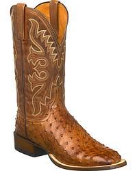 Men's Lucchese Handmade Full Quill Ostrich Skin Cowboy Boots