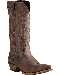 Women's Ariat Distressed Leather Cowgirl Boots