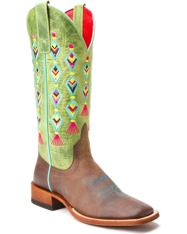 consegna veloce Macie Bean Bean Bean Fiesta, No Siesta Cowgirl avvio - Square Toe  - M9100  stanno facendo attività di sconto