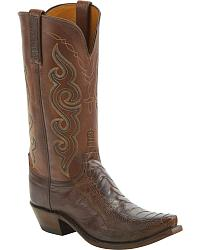 Women's Lucchese Handmade Smooth Ostrich Skin Cowgirl Boots