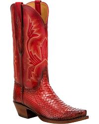 Women's Lucchese Handmade Snake Skin Cowgirl Boots