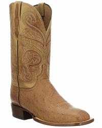 Men's Lucchese Handmade Smooth Ostrich Skin Cowboy Boots