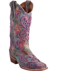 Women's Multi-Colored Cowgirl Boots