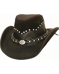 Women's Leather Cowgirl Hats