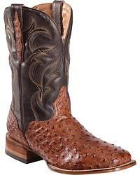 Men's El Dorado Handmade Full Quill Ostrich Cowboy Boots
