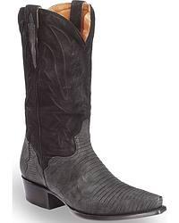Men's El Dorado Handmade Lizard Skin Cowboy Boots