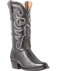 Men's El Dorado Handmade Smooth Ostrich Cowboy Boots