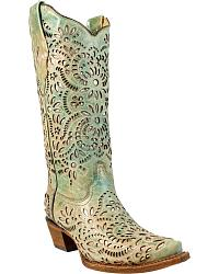 Inlay Cowgirl Boots