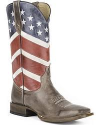 Men's Patriotic Western Boots