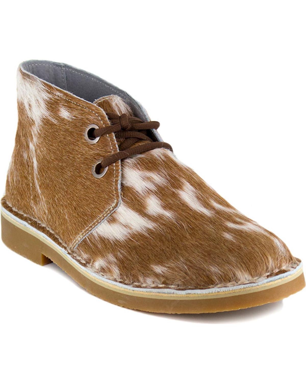 botas para Hombre Desierto Cuero De Vaca Uwezo-Punta rojoonda - 1051