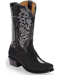 Men's Stingray Skin Cowboy Boots