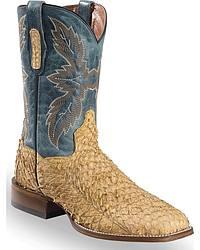 Men's Fish Skin Cowboy Boots