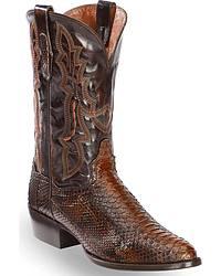 Men's Snake Skin Cowboy Boots