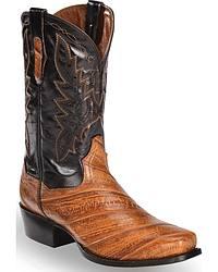 Men's Eel Skin Cowboy Boots