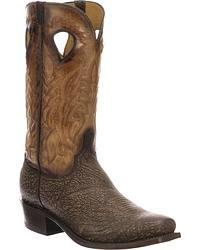 Men's Handmade Shark Skin Cowboy Boots