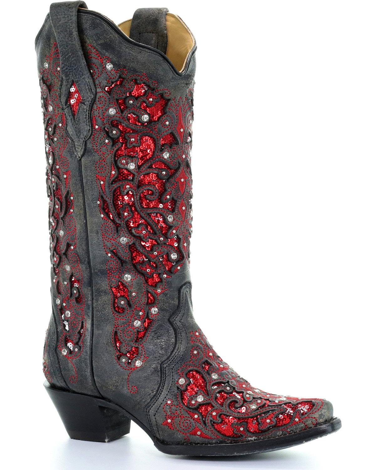 042e859ace7 Women s Tooled   Inlay Cowboy Boots