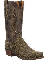 Men's Lucchese Handmade Elephant Skin Cowboy Boots