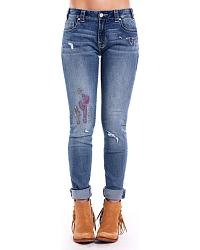 Women's Embroidered  Jeans