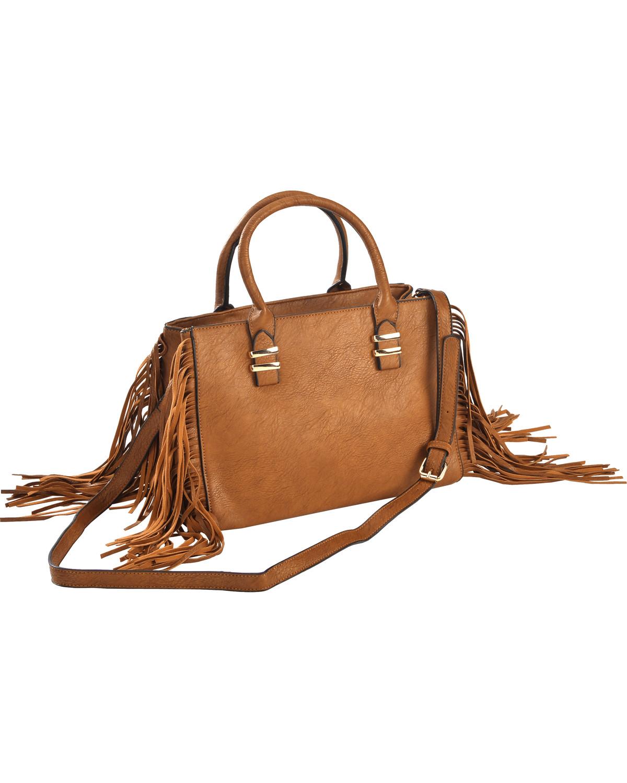 Wear N.E. Wear Women's Fringe Handbag - ZH314BK