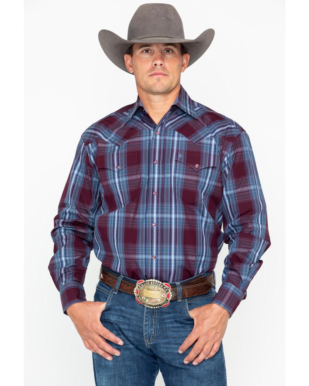 Stetson Men's Large Plaid Snap Long Sleeve Western Shirt  - 11-001-0478-0755