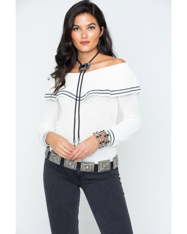 BB Dakota Women's Ruffle Sweater - BI306387 - BLK