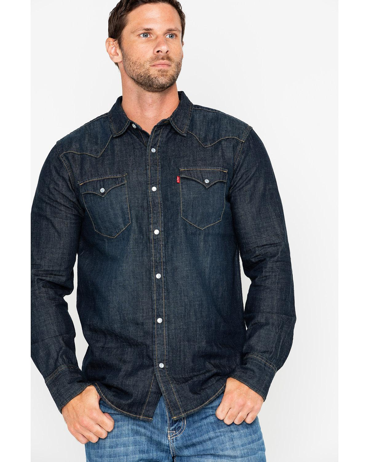 cc69340515 Levi s Men s Boulder Denim Long Sleeve Western Shirt - 3LYLW2262-IAD ...