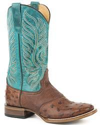 Women's Ostrich Leg Cowgirl Boots