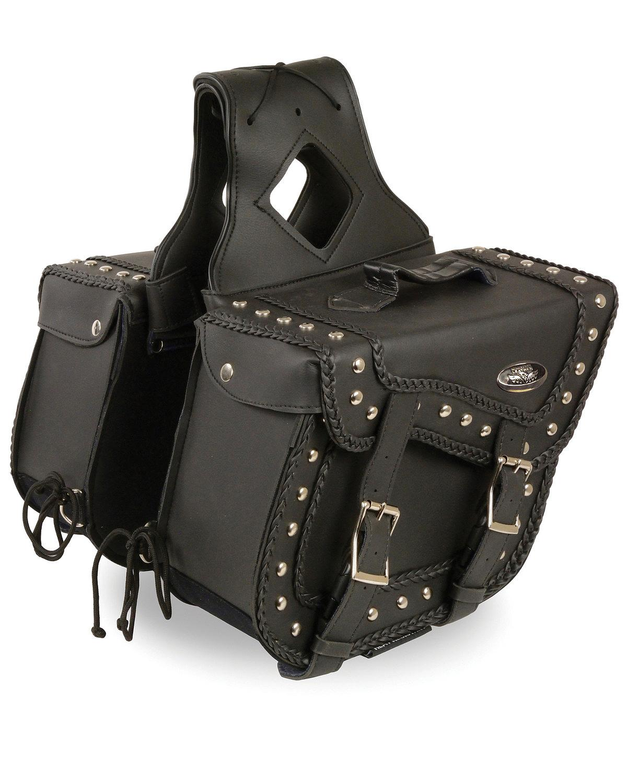 Milwaukee Leather Unisex Medium Braided Zip-Off  Pvc Throw Over Saddle Bag With  online shop
