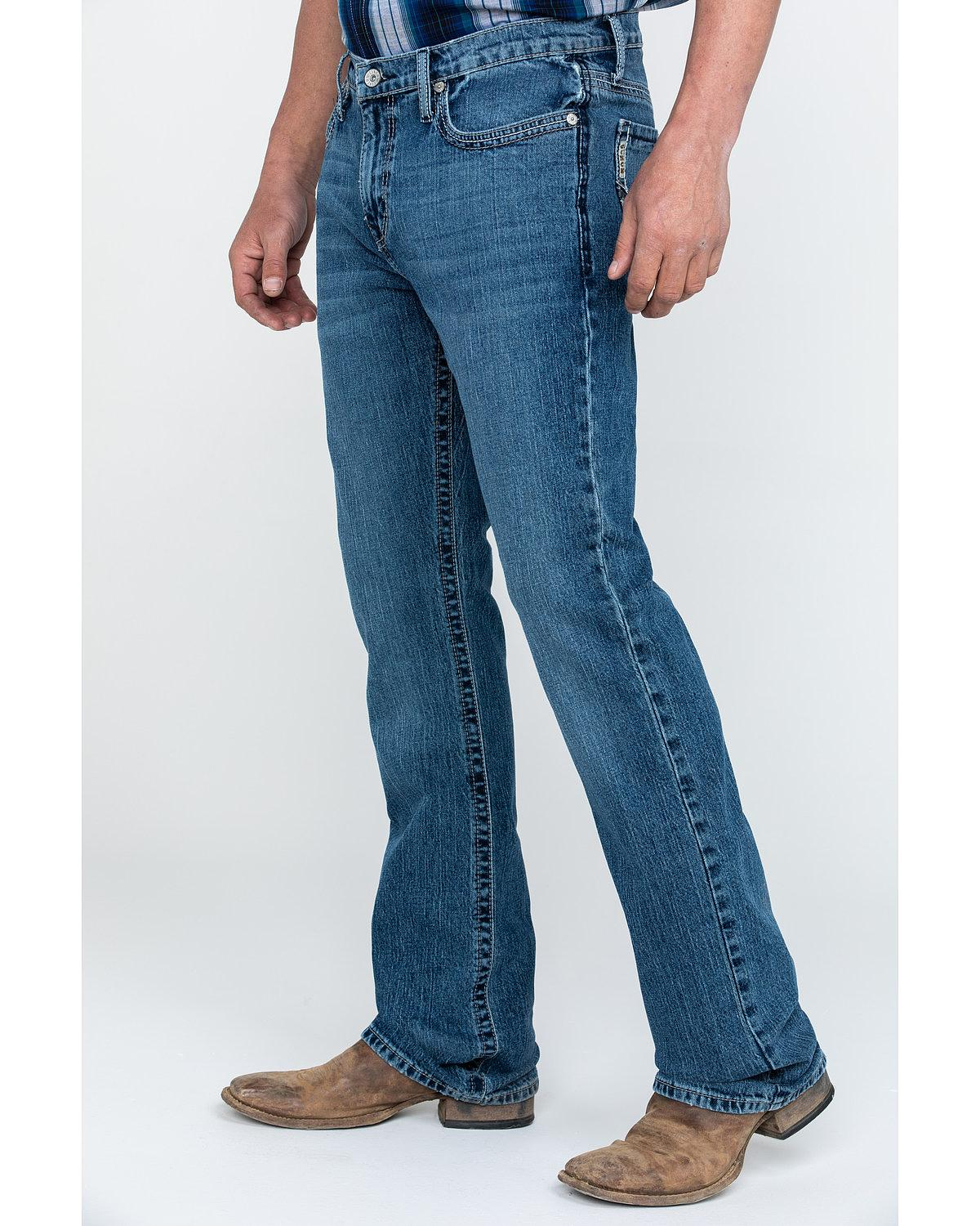 92a75fa4a19 Cinch Men's Ian Medium Stonewash Slim Boot Jeans - MB67336001 | eBay