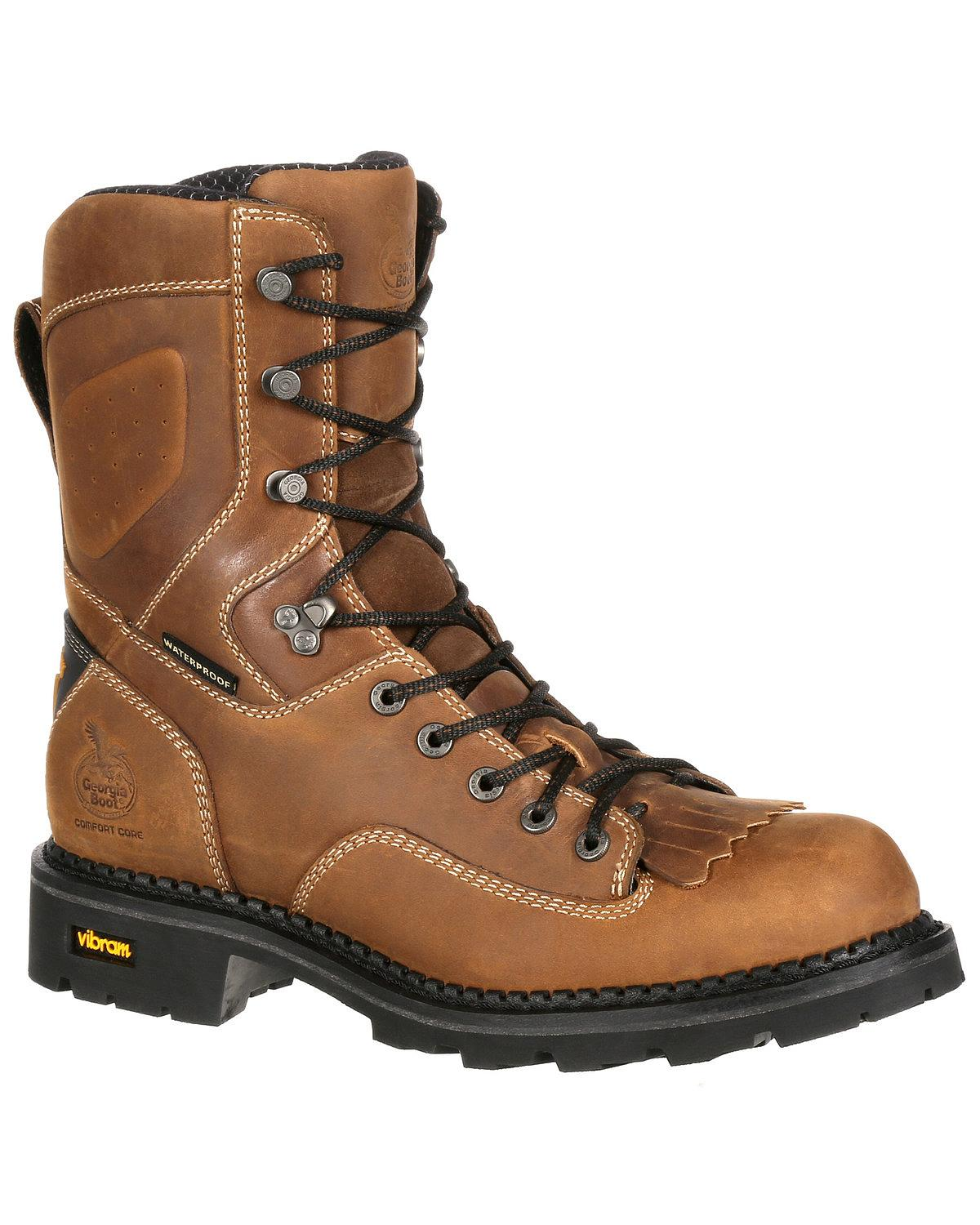 Bota de Hombre Confort Core Georgia Impermeable Logger bota-Soft Toe-GB00122