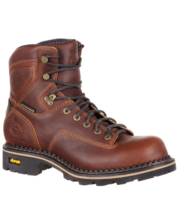 Bota de Hombre Confort Core Georgia Impermeable Logger bota-Composite Toe-GB00164