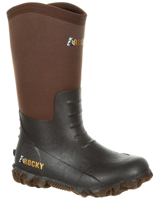 Jóvenes muchachos del núcleo de goma Rocky impermeable al aire libre bota-Punta rojoonda-RKS0376Y