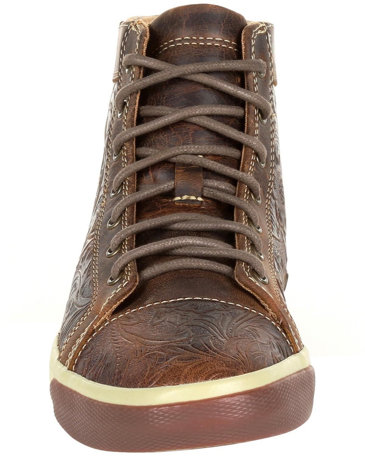 Durango Women's Western Embossed High-Top High-Top High-Top Sneakers - Round Toe - DRD0308 d819d9